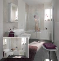 Individuell und unkompliziert: Teilsanierung im Bad Dusche und Wanne intelligent verbunden