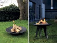 Der schwarze Diamant im Garten: Feuerschale aus Gusseisen