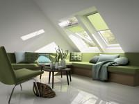 Modische Lösungen für Dachfenster: Spezielle Schutzgewebe halten die Hitze draußen